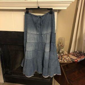 Forever 21 Layered Denim Skirt